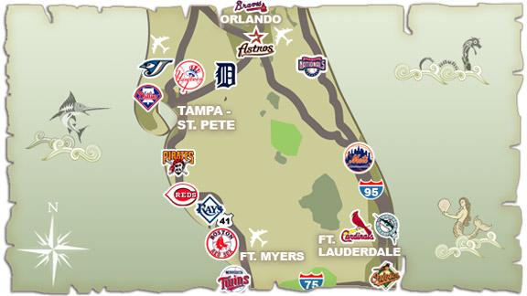 Mlb Spring Training Florida Map