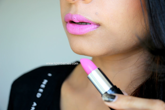 Collection cupcake pink lipstick swatch
