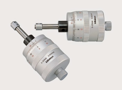 Toolmaker's microscope manual micrometer measuring heads.