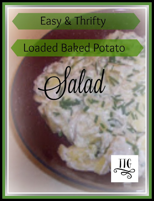 A very easy and thrifty baked potato salad. at thethriftygroove.com