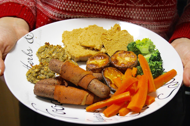vegan vegetarian christmas dinner meal