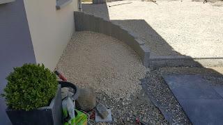 palissade granit granaillé entree design