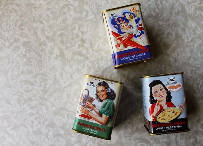 vintage pinup paprika tins