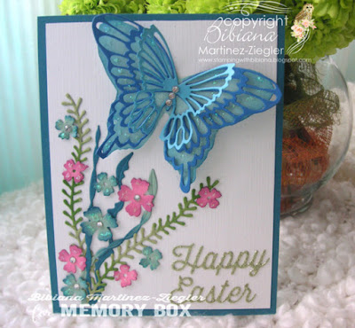 holy week happy easter butterfly card front view