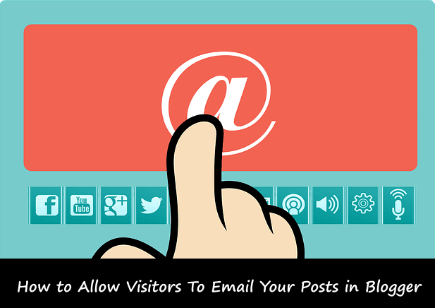 Add Email post links in your Blogger posts