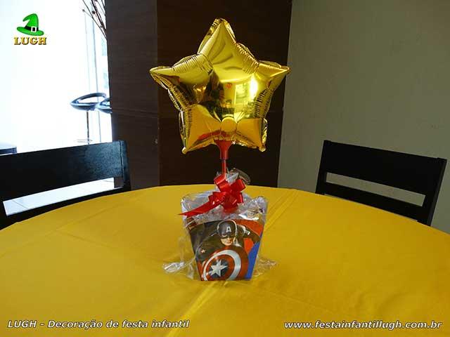 Super-Heróis - enfeites de centro de mesas para aniversário - imagem 01