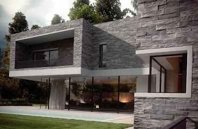 Model Dinding Teras Rumah Minimalis 2019 Dengan Pesona Batu Alam Yang Lebih Natural Dan Alami 8