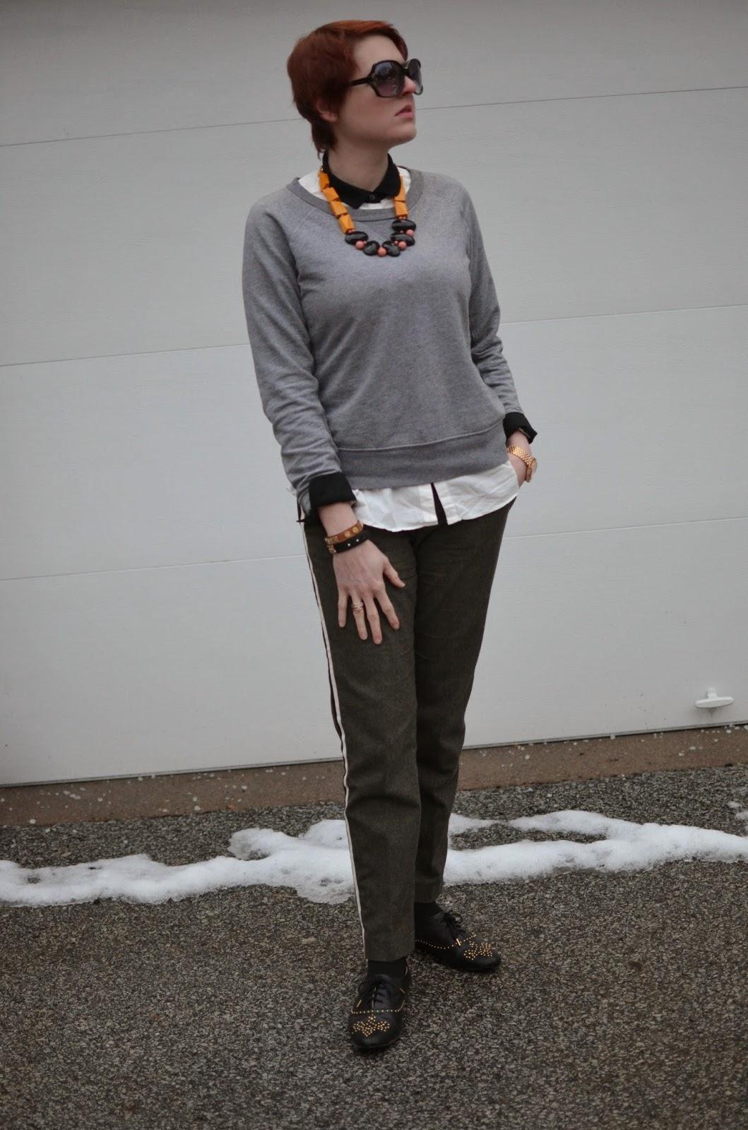 748663f24c5fd2 sweatshirt-Gap(similar here), shirt-Uniqlo(similarish here),  pants/shoes-Zara(on sale here and similar here) , rings/bracelets-Jewel  Mint, ...
