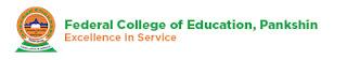 FCE Pankshin 2017/2018 NCE Admission List Released