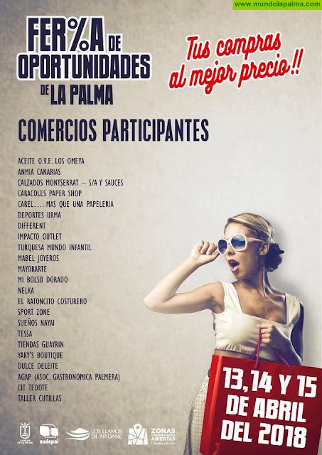 La Feria de Oportunidades de La Palma pondrá a disposición del público los saldos de más de una veintena de comercios
