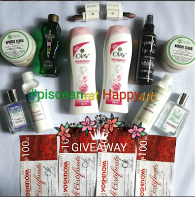 #pisceanrathappy4th Anniversary Giveaway