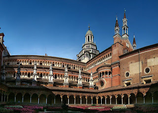 The Certosa di Pavia is notable for its lavish Gothic and Renaissance architecture