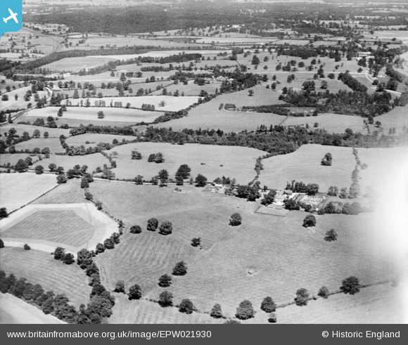 Photograph of obions Wood and Gobions Garden, Brookmans Park, from the south-east, 1928