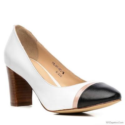 Zapatos negros con blanco
