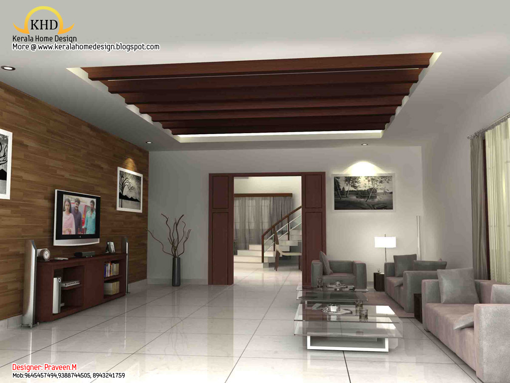 3d rendering concept of interior designs kerala home for Simple interior design ideas for indian homes