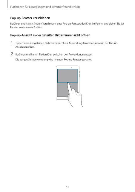 Bedienungsanleitung Handbuch Benutzerhandbuch Samsung Galaxy Tab A SM-T550 SM-P550 Tablet