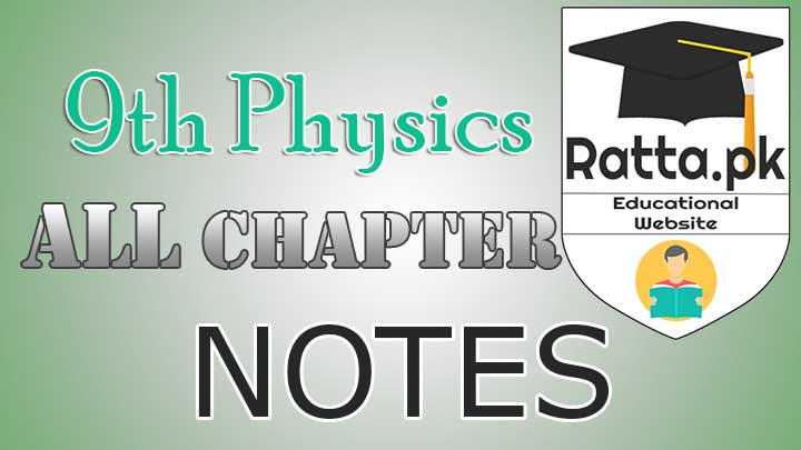 9th Physics All Chapters Notes Read Online - Definitions and Formulae