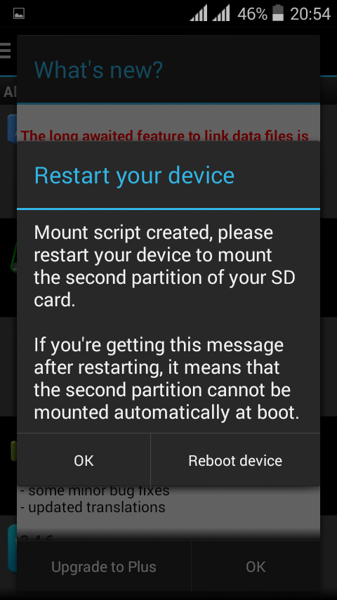 Aparted apps to partition your SDcard Screenshot 6