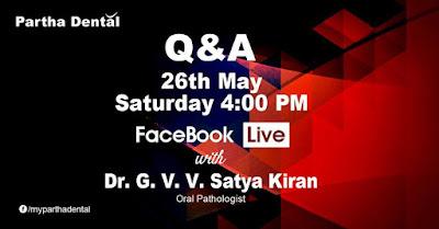 Partha Dental Facebook live with Dr.G V V Satya Kiran
