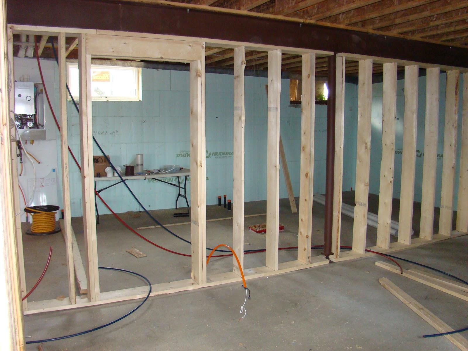 Building Walls In A Basement Urban Home Interior Wiring From Previous Rough Wall Framing Natashamillerweb Rh Com Stud