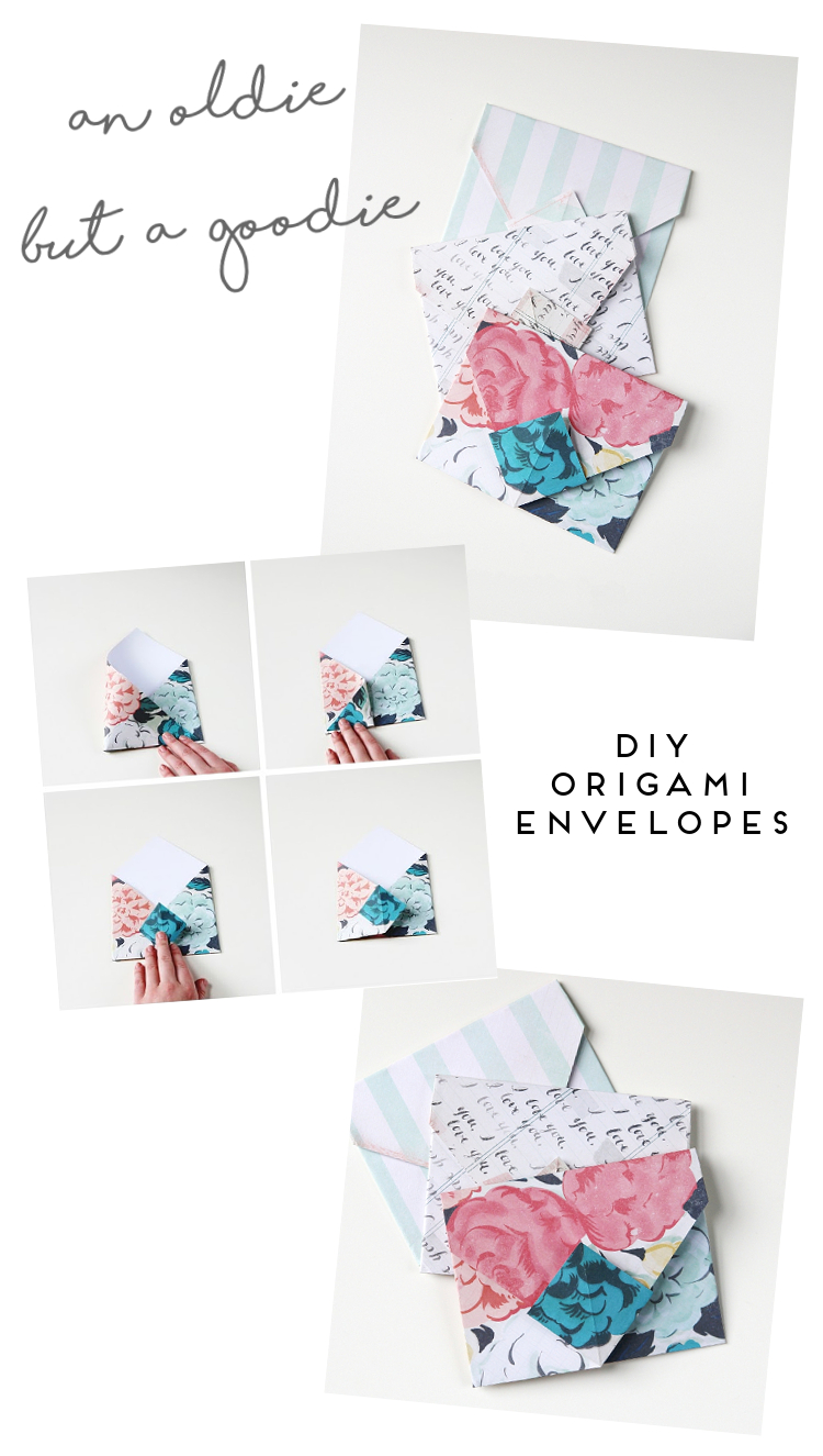 AN OLDIE BUT A GOODIE - DIY ORIGAMI ENVELOPES.