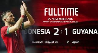Indonesia vs Guyana 2-1 Friendly Match 25/11/2017