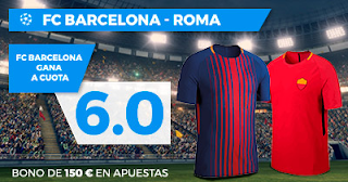 Paston Megacuota Champions League: Barcelona vs Roma 4 abril