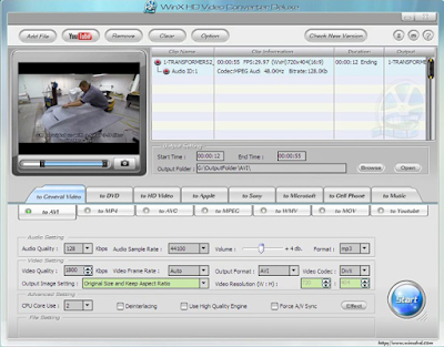 Winx Hd Video Converter Deluxe 5.11.0.294 Full Crack Version Gratis