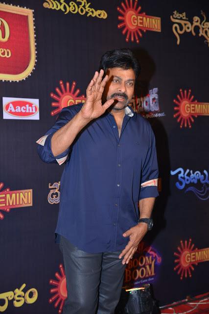 Megastar Chiranjeevi Photos at Gemini TV Awards 2016