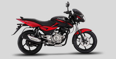 New Bajaj Pulsar 150 side view red image