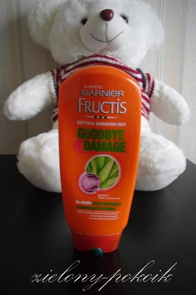 Kosmetycznie: Garnier Fructis Goodbye Damage: odżywka. Czy polubiłam się z nią?