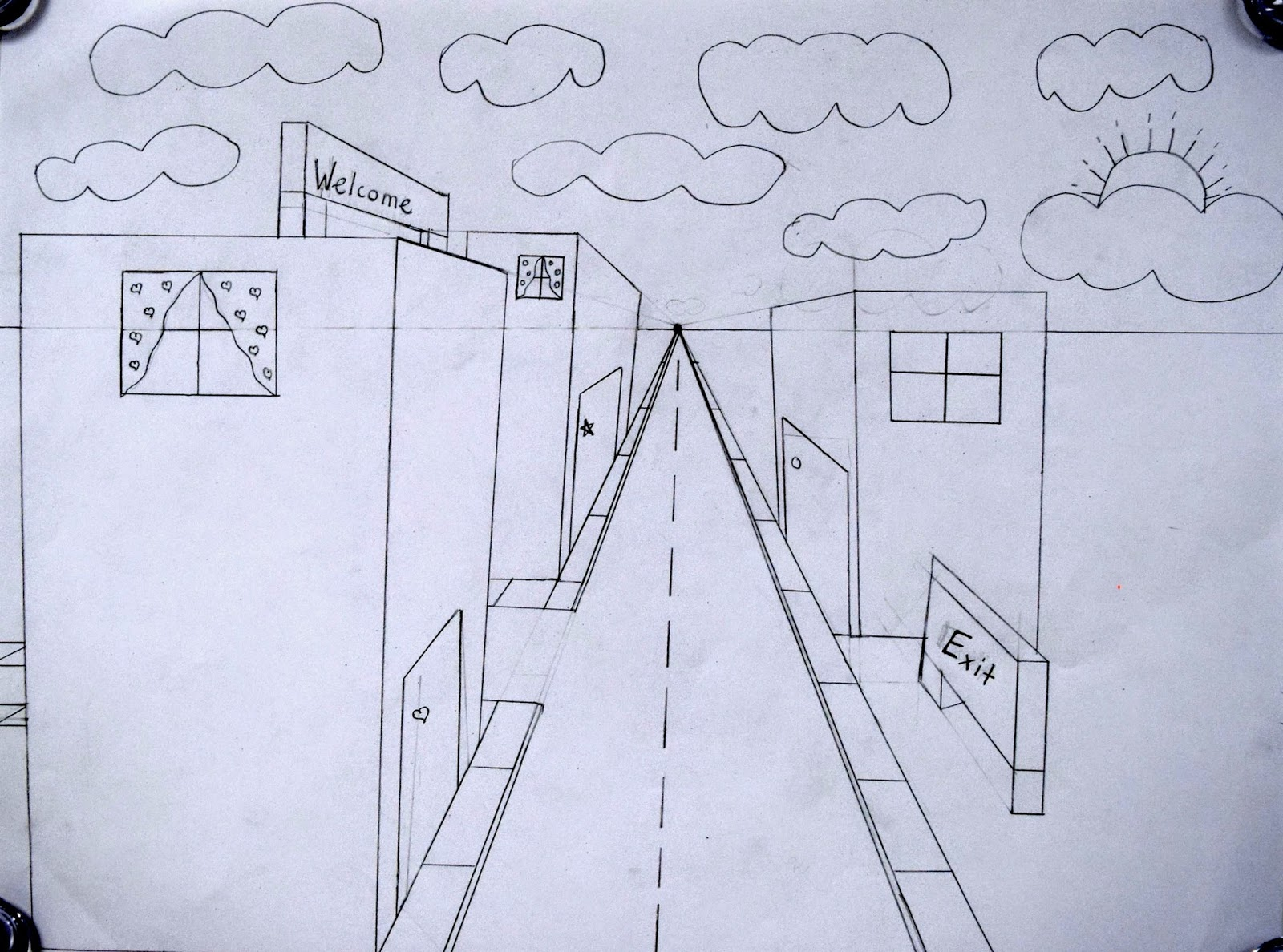 One Point Perspective Streetscapes 2 0 5th