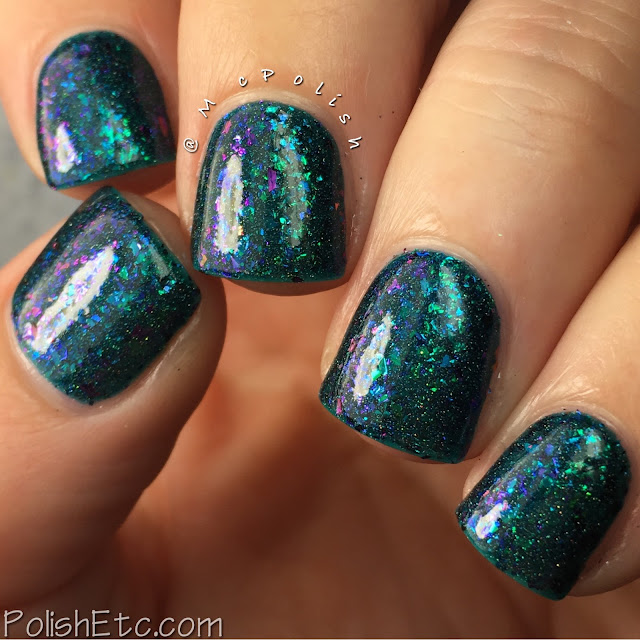 Top Shelf Lacquer - Holiday Flake Out Collection - McPolish - Blue Coconut Cocktail
