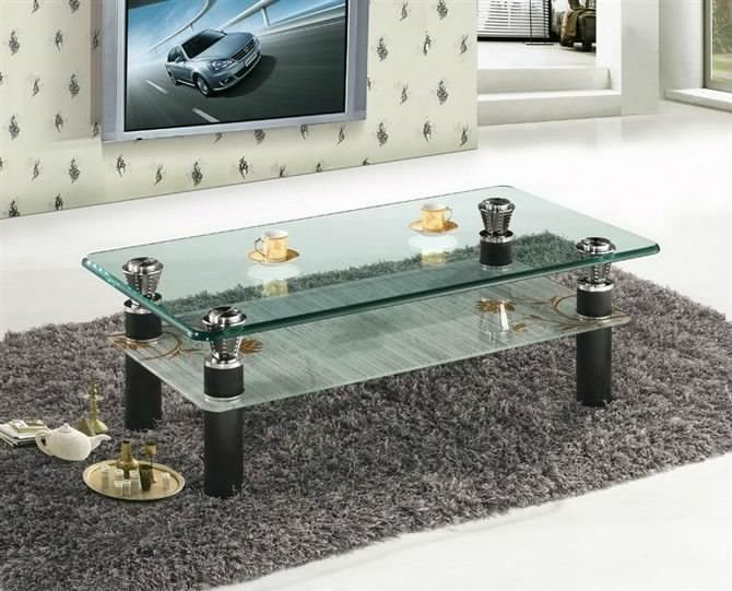 Familiy Glass Centre Table For Living Room Home Cheap Solution
