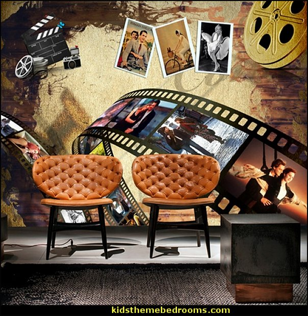 cinema mural wallpapers  Movie themed bedrooms - home theater design ideas - Hollywood style decor - movie decor -  Film decor - home cinema decor - movie theater decor - Home Theater Curtains - cinema themed bedroom movie theater - movie themed decorating ideas - movie props - designing a home theater room -  decorating home theater ideas - media room decorating ideas - film buff bedroom ideas