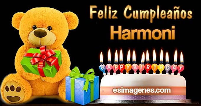 Feliz cumpleaños Harmoni
