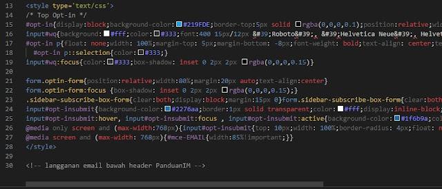 preview kode warna sudah ada