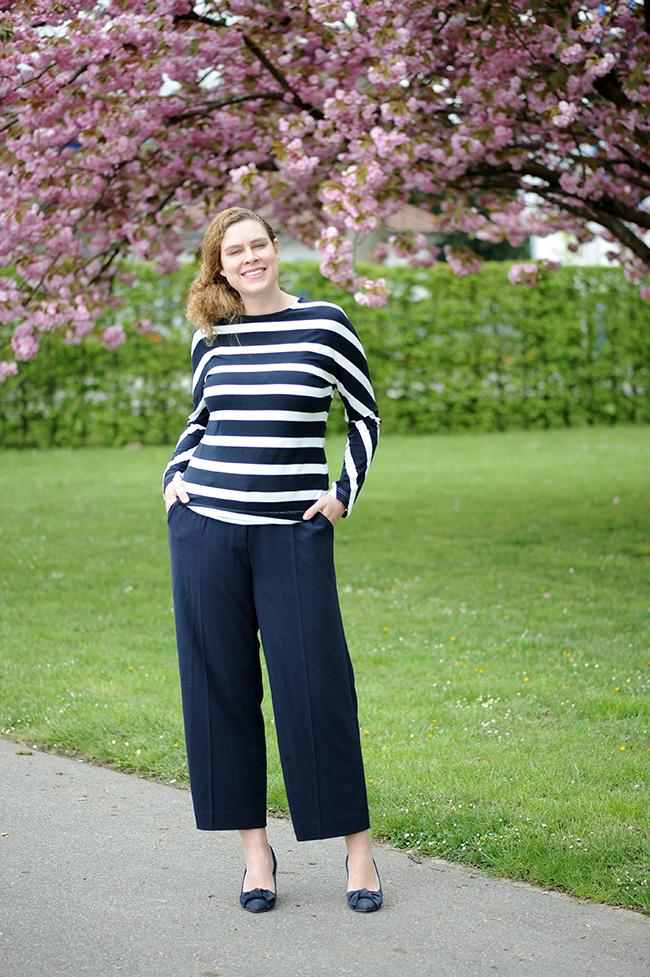 stripes, Streifen, culottes, knipmode, Burda style, nähen, sewing, DIY, Stoff und Stil