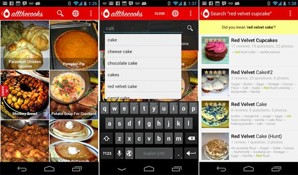 Delicious Recipe Making Android App 2015