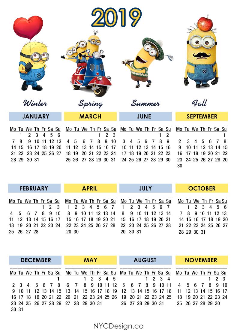 Calendario 2018 To Print
