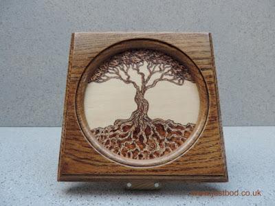 Tree of Life hand burnt design