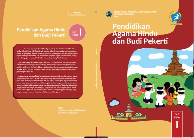 Download Gratis Buku Siswa Pendidikan Agama Hindu Dan Budi Pekerti Kelas 1 SD Kurikulum 2013 Format PDF