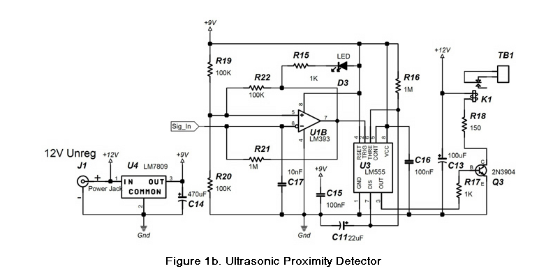 Ultrasonic proximity detector project report