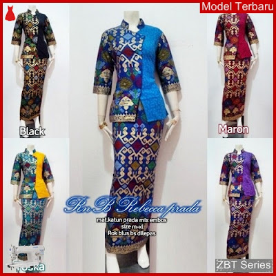 ZBT07509 Kebaya Dress Batik Wanita Setelan Prada BMGShop