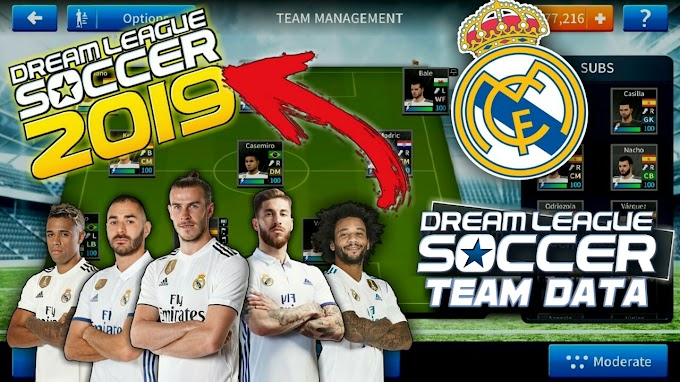 Download Real Madrid team 100% in Dream League Soccer 2019