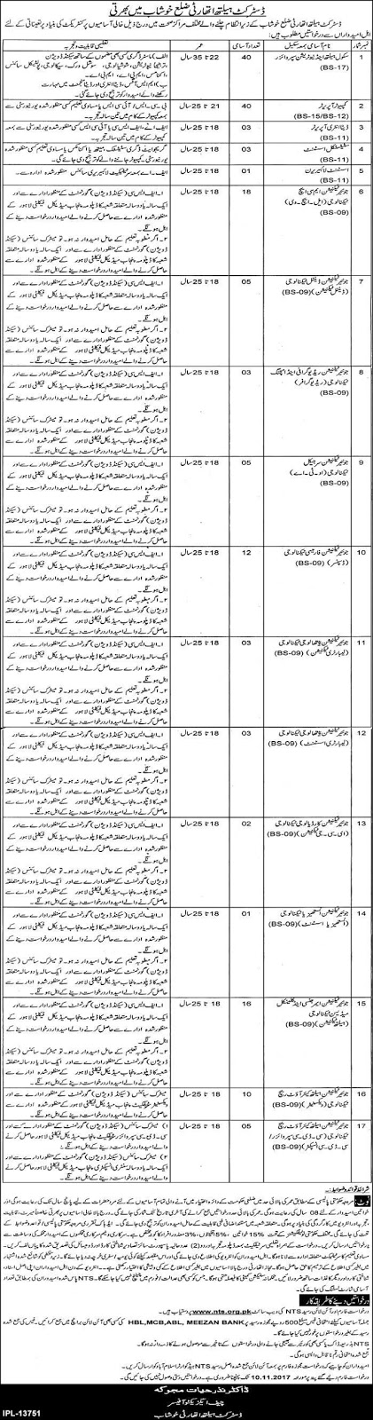 District Health Authority Khushab Jobs 2017