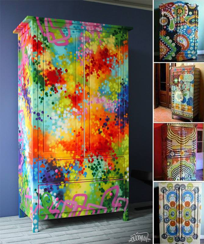Amazing creativity funky fabulous painted furniture - Hand painted furniture ideas ...