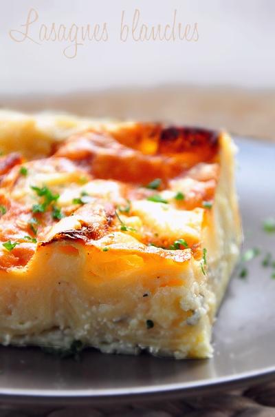 Lasagnes blanches aux 3 fromages (comté, chèvre & bleu)