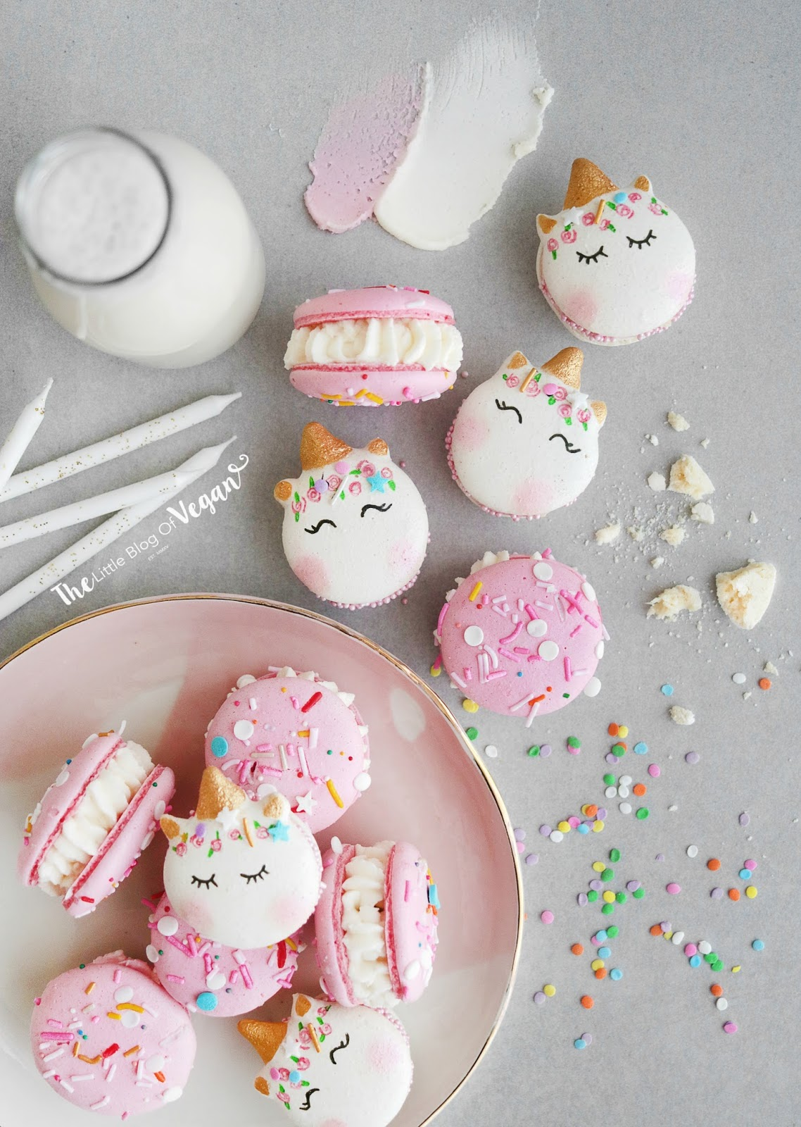 I Have Also Made Some Very Easy Yet Effective Unicorn Macarons Too They Look Stunning Along With The Pink Birthday Cake