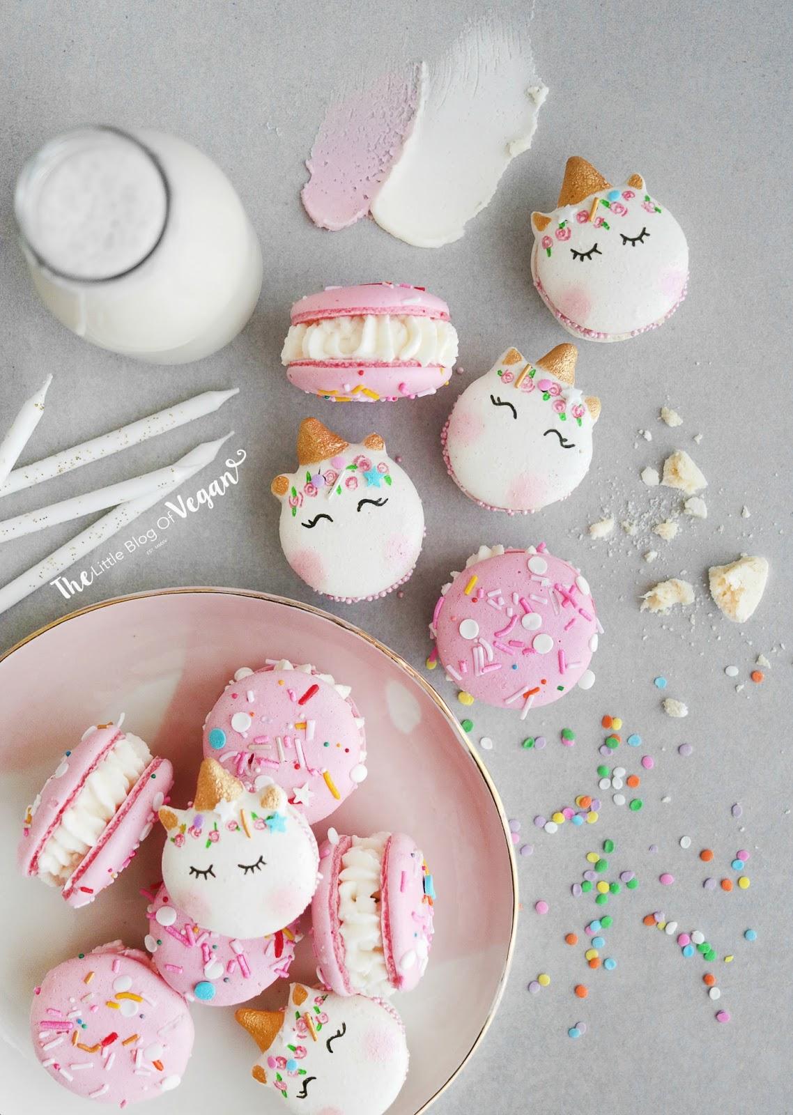 Amazing Unicorn Birthday Cake Macarons Recipe The Little Blog Of Vegan Funny Birthday Cards Online Elaedamsfinfo